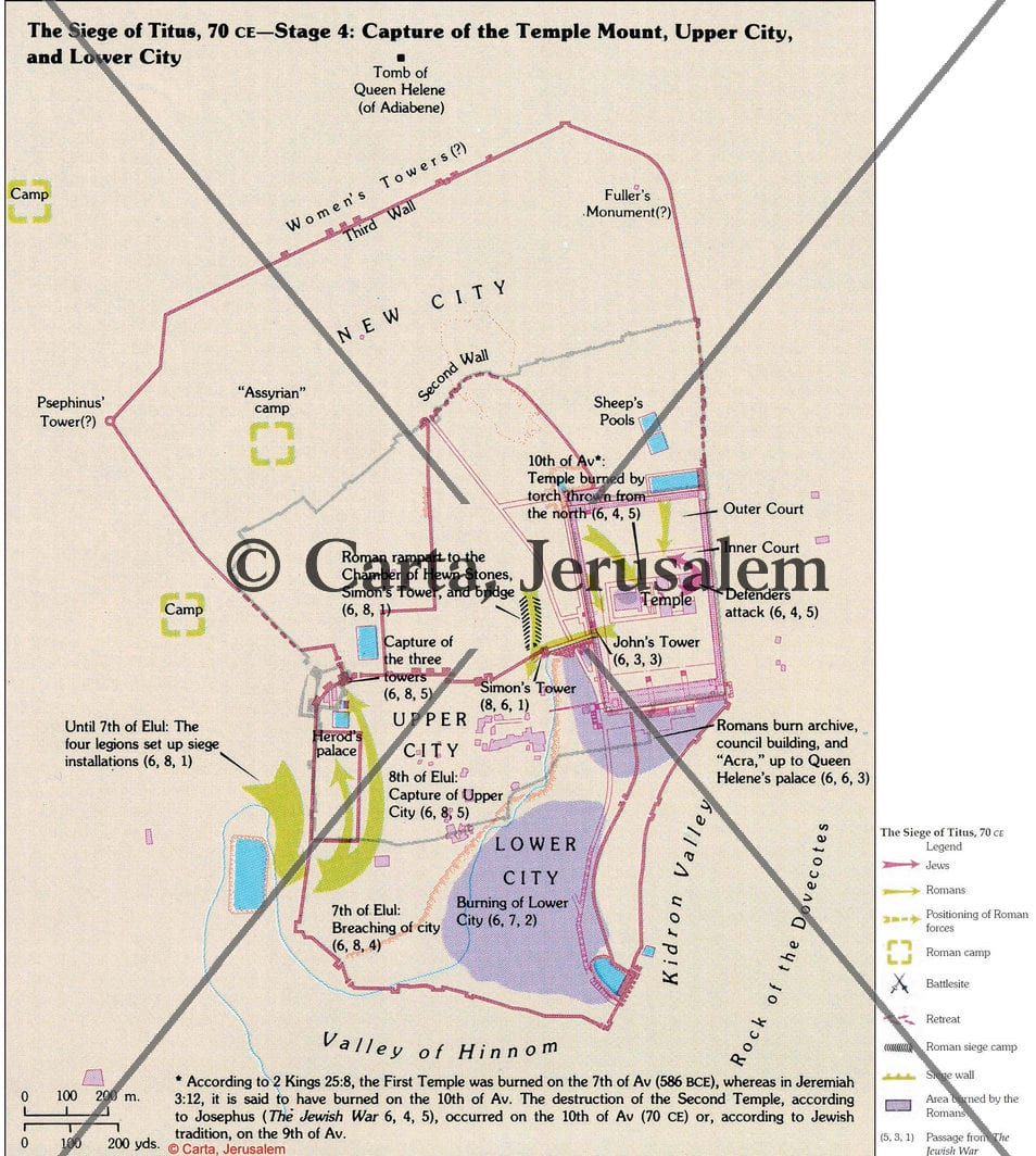 The Siege Of Titus, 70 CE – Stage 4 – Capture Of The Temple Mount, Upper  City And Lower City