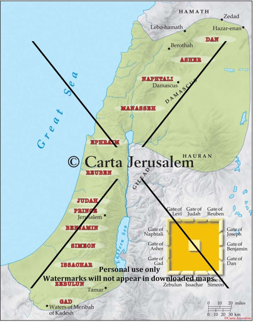 Ezekiel's Vision Of The Restored Tribes And Of Jerusalem