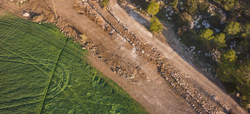 Aerial photographs of the road. Photographic credit: the Griffin Aerial Photography
